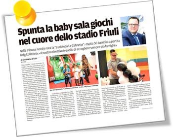 Ludoteca Le Zebrette - articolo sul giornale per l'apertura