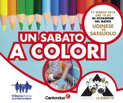 BANNER UNA DOMENICA A COLORI - Udinese Sassuolo - Ludoteca Le Zebrette