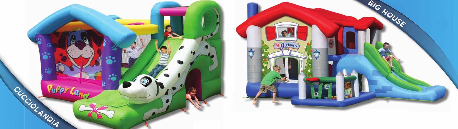 Ludoteca Le Zebrette a Udine presso la DACIA Arena - Noleggio giochi gonfiabili per bambini